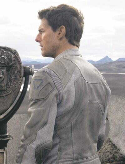 "Tom Cruise in a scene from ""Oblivion."""