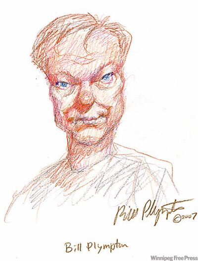 Self-portrait of animator Bill Plympton