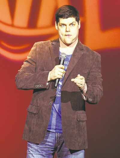 Rob Pue played host at Tuesday night's Comedy Aces show.