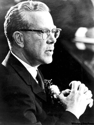 Duff Roblin at the Sept. 5, 1967 Progressive Conserva­tive leadership convention.