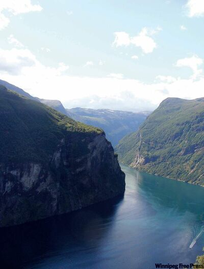 The Geiranger fjord is considered the pearl of all fjords, a jaw-dropping gorgeous view