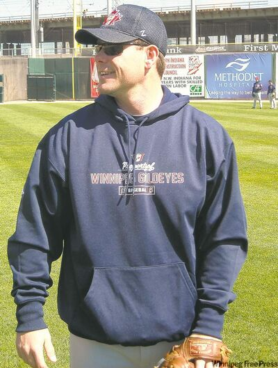 Barry Fowler is trying to crack the Winnipeg Goldeyes lineup as a 35-year-old rookie pitcher.
