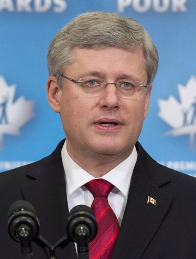 Prime Minister Stephen Harper says he's saddened by the lockout that has paralysed the NHL. In an interview with French broadcaster TVA, Harper says he's finding some consolation by turning his attention to the world junior hockey championship that starts later this month in Russia. Harper is shown Friday December 14, 2012 in Ottawa. THE CANADIAN PRESS/Adrian Wyld