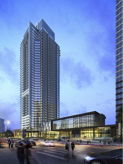 SUPPLIED</p><p>A rendering of the new apartment tower at 300 Main.</p>