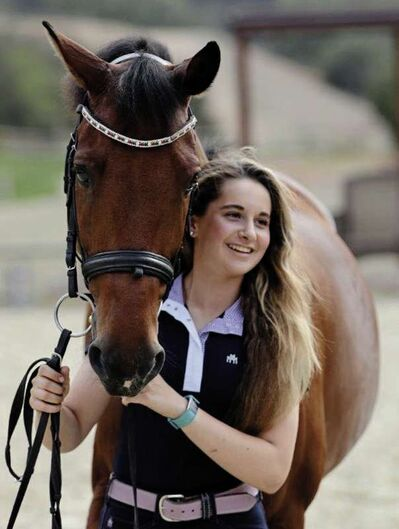 Brooke Mancusi competed in the North American Youth Championship in North Salem, N.Y., with her horse Wellknown.