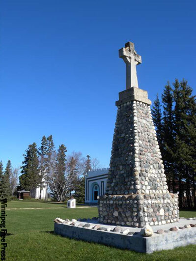 The historic part of Camp Morton Provincial Park preserves the remains of a Roman Catholic summer camp, built in 1920. Several stone cabins, a chapel, and a bell tower are among the buildings that remain.