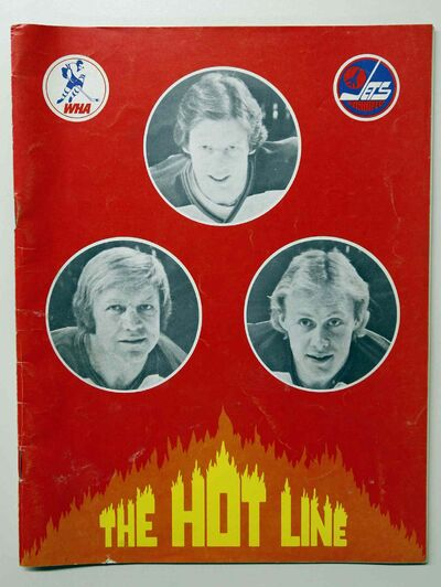 A WHA Jets hockey program from 1978 features the Hot Line. (University of Manitoba)