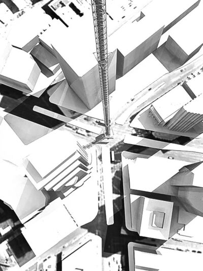 Architect David Penner's vision for a dramatic steel tower rising from Portage and Main.