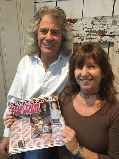 A Manitoba man says he has been mistaken for a missing boyfriend of famed singer and actress Olivia Newton-John.Wes Stobbe says a photo of him snapped in Mexico in October has been printed in several gossip tabloids, including Star magazine and the National Enquirer. Wes Stobbe and his wife Bridget Shaw hold up a copy of a tabloid paper in an undated handout photo. THE CANADIAN PRESS/HO-Wes Stobbe, *MANDATORY CREDIT