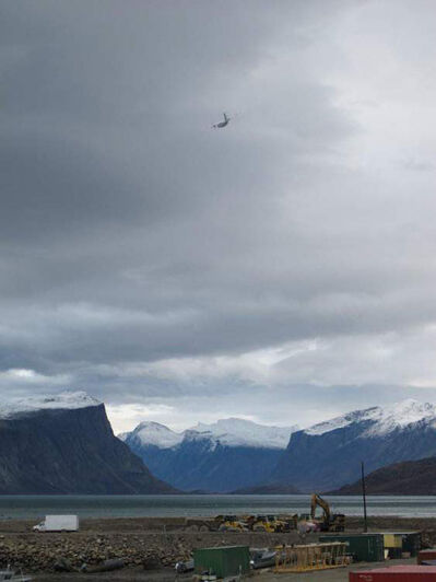 Breathtaking view of the mountains in Pangnirtung Fiord.