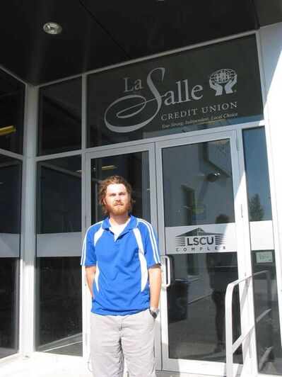 Cody Benson is overseeing the summer day camps and other activities at the LSCU Complex in La Salle.