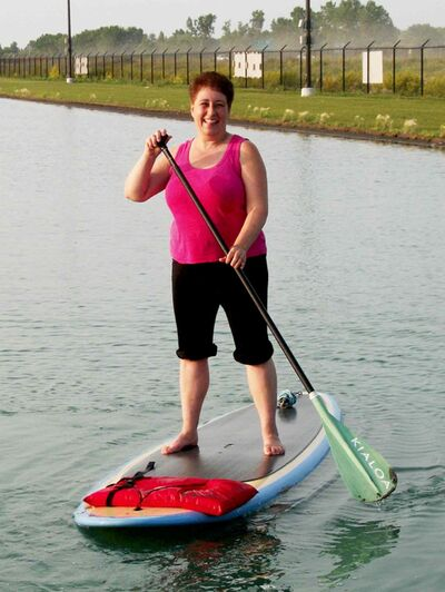 Our columnist gave paddleboard yoga a try at Adrenaline Adventures.