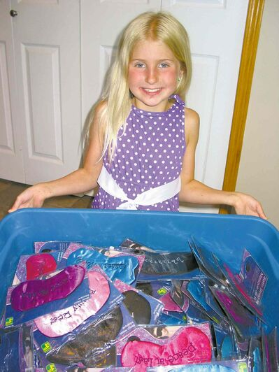At press time, McKenna Bateman had bought 345 night masks for individuals spending the night at Siloam Mission.