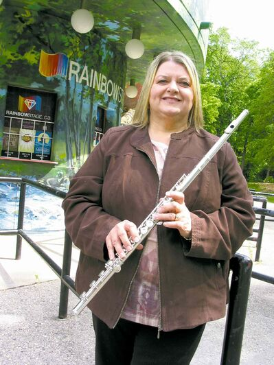 The flute is among the various instruments musician Julie Husband plays.