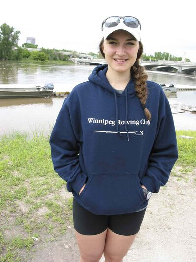Fiona Rettie, pictured at Winnipeg Rowing Club in St. Boniface, says the sport has many benefits.