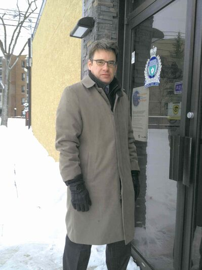 Coun. Brian Mayes (St. Vital) pictured outside the former police service station, located at 1086A St. Mary's Rd., which closed its doors on Sun., Dec. 29.