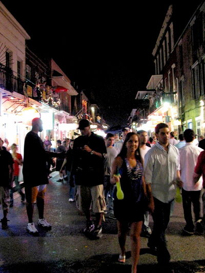 Crowds are  back in the French Quarter of New Orleans.