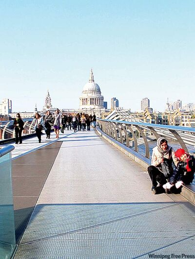 postmedia newsA walk over the Millennium Bridge includes the best view in London.