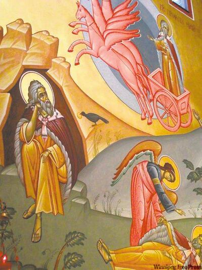 Detail of The Ascension of Prophet Elias, by Florin Vlad.