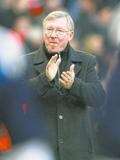 Manchester United manager Alex Ferguson expects a hard game.