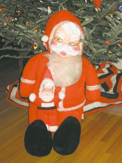 Submitted photoCreepy Santa�s kidnapper sent us a photo of Creepy Santa and Son of Creepy Santa.