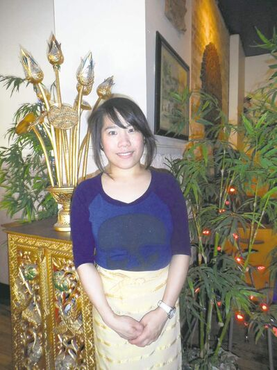 Phalatda Phrakonkham is a waitress at Sawatdee Thai, a Viet and Thai restaurant that serves ginger beef and Saigon soup.