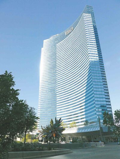 The Vdara hotel at CityCenter offers a break from the hectic Las Vegas strip.