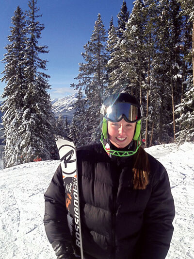 Skier Tori Hislop has found success on the slopes.