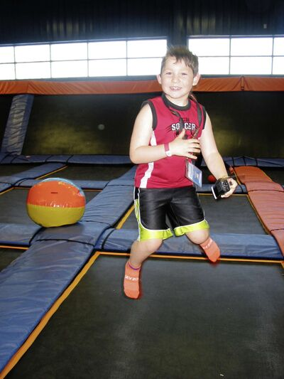 Jacob Petursson was one of the youngsters who had fun at  Sky Zone Trampoline Park's spring break camp.