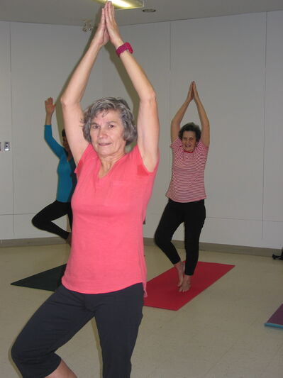 Yoga instructor Vivian Babij, from La Salle,  believes that people of all ages can benefit from the gentle stretching in yoga.
