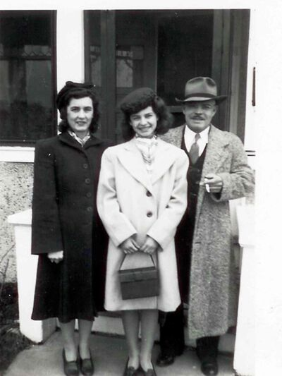 Elmwood High School Legacy Fund donor Patricia Boughton (centre) is shown in an undated photo with parents Georgina and John.