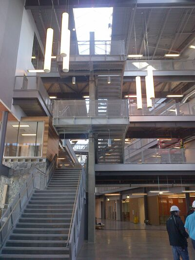 Interior of one of the buildings on the new campus