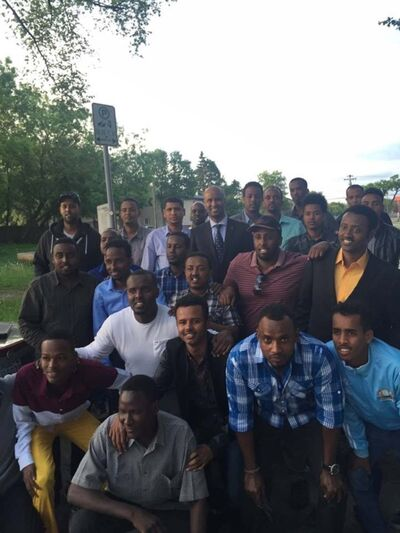 BADRI ABDULLAHI / WINNIPEG FREE PRESS</p><p>Canada's new Immigration Minister Ahmed Hussen, met with members of Manitoba Somali Youth Link in Winnipeg in August to encourage them to get involved in civic engagement. </p>