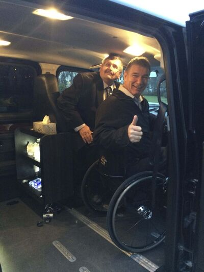 Supplied</p><p>Rick Hansen got a look at Gary Jakeman&rsquo;s limousine when the activist was in town recently.</p></p>