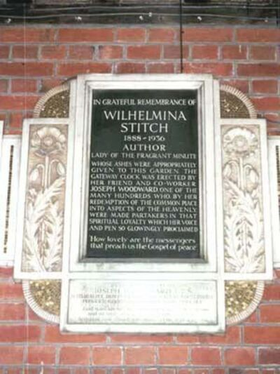 A commemorative plaque at Golders Green Crematorium in London, England.</p></p>