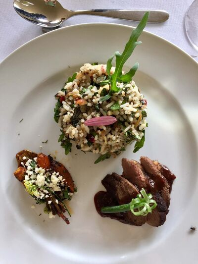 Jennifer Schell</p><p>Locally sourced ingredients are the stars of this seared duck breast with wild sourplum, star anise and mongu rice dish at the Elephant Café. </p>