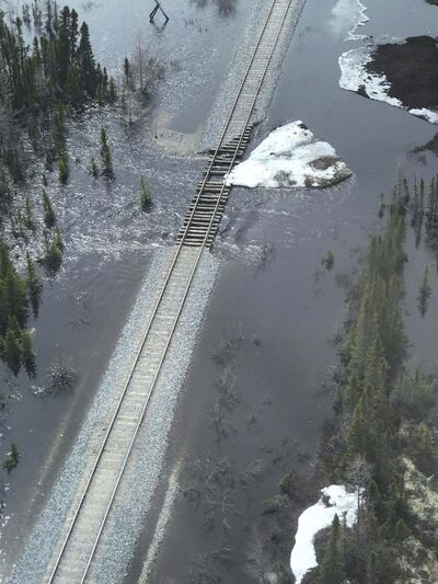 OmniTrax</p><p>The Hudson Bay Railway has been out of service since being flooded in the spring.</p>