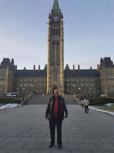 SUPPLIED</p><p>Garry McLean at Parliament Hill in 2017.</p>