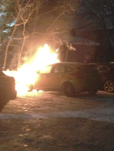 <p>Bueckert and Komzak say they aren't at fault for the blaze -- and that it's not the first time a car has gone up in flames after plugging in block heaters on the company's property.</p>