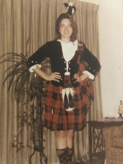 Korzeniowski was a competitive Highland dancer in her teens in Winnipeg. (SUPPLIED)</p>