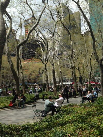 Bryant Park is an inviting green space in the heart of New York City.