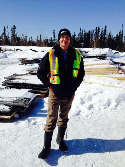 Glen Kuntz, president and CEO of Mega Precious Metals, at the Monument Bay camp — one of two exploration projects in northern Manitoba looking for growth.