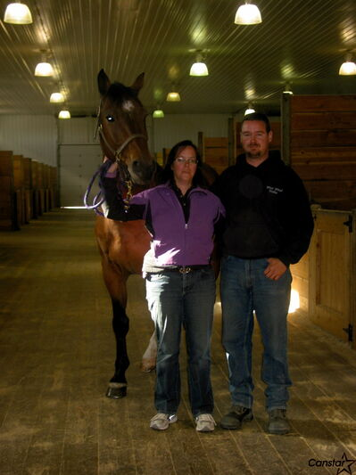 Chris Dolinski and Shawn Charriere are continuing to expand their equestrian centre near Oak Bluff.