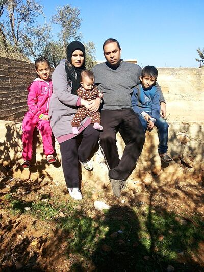 Charleswood resident Joseph Chaeban's brother-in-law Khaled Ali, wife Tanha, twins Mohammed and Zainab, 7, and Naya, six months, fled Syria in January 2012 and have been refugees in Lebanon for nearly three years. Khaled is a farmer.