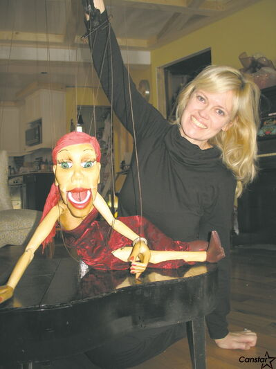 Estee Taylor will be performing with her marionette puppets at the coffee house and variety jam at the Wildwood Park Community Centre.