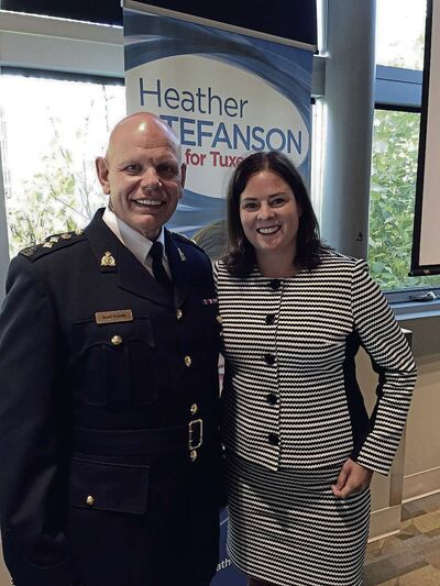 "Scott Kolody, commanding officer of RCMP ""D"" Division in Manitoba, spoke at Tuxedo MLA Heather Stefanson's annual community leaders luncheon."
