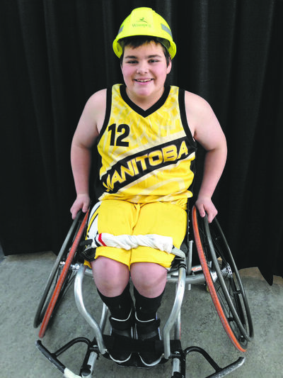 Spencer Lambert recently participated in wheelchair basketball at the Canada Winter Games in Prince George, B.C. (SUPPLIED)