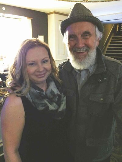 Correspondent Heather Tiede meets Fred Penner at Juno Awards after-party.