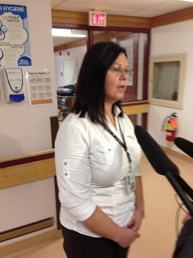 Kelly Wiwcharuk, the nurse manager at the Snow Lake Health Centre.