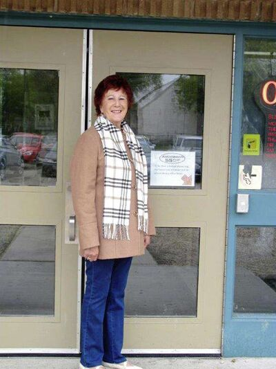 Linda Fourneaux, president of Archwood 55 Plus, pictured outside Archwood Community Centre.